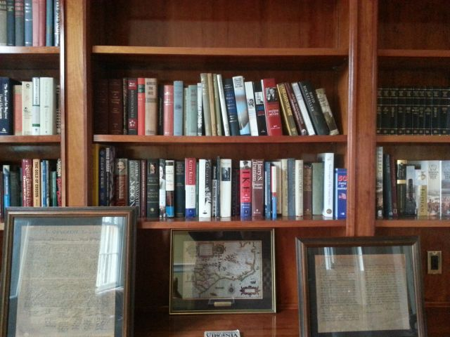 Books donated to Belle Grove Plantation Bed and Breakfast / James Madison Library in King George. Virginia