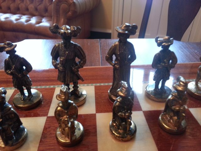 Chess Set donated to Belle Grove Plantation Bed and Breakfast / James Madison Library in King George. Virginia