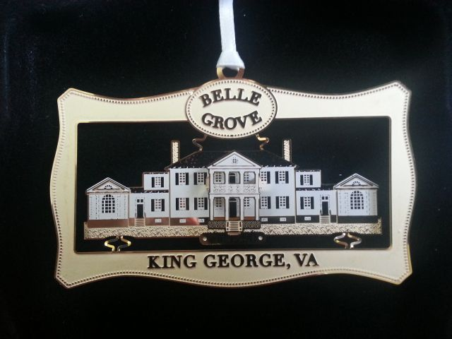 Belle Grove Plantation Bed and Breakfast Christmas Ornament 2010 King George Historical Society